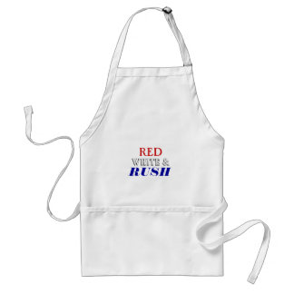 Red White Rush Adult Apron