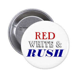 Red White Rush Pin