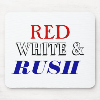 Red white Rush Mouse Pad