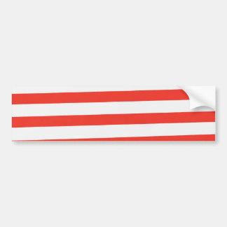 Red White Sailor Stripes Car Bumper Sticker