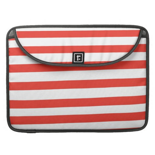 Red White Sailor Stripes MacBook Pro Sleeve