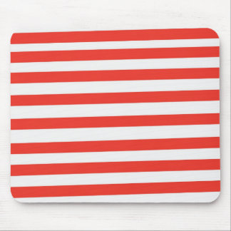 Red White Sailor Stripes Mouse Pad