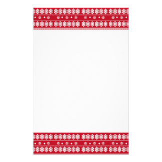 red white snowflake Christmas pattern Flyer