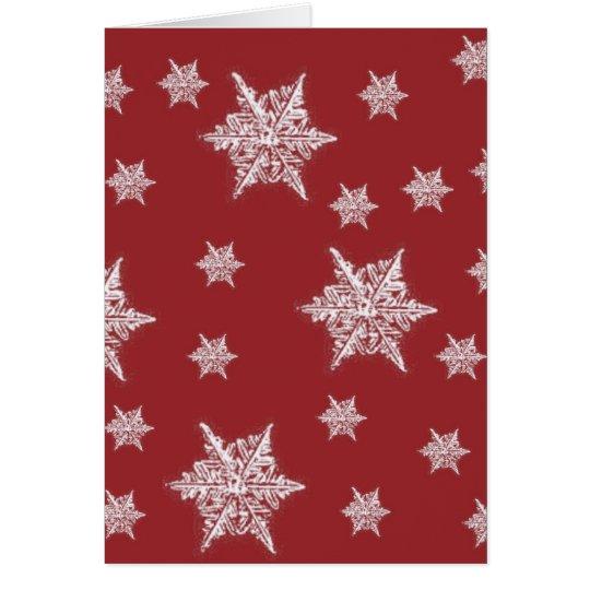 Red & White Snowflake Design Card