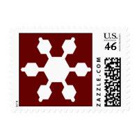 Red & White Snowflake Postage stamp