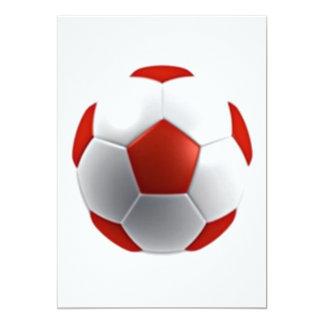 red white soccer ball sports teams fun active card