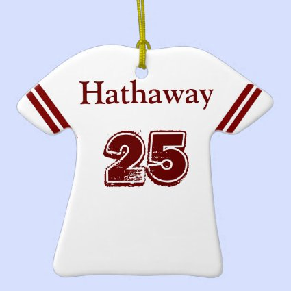 Red & White Sports Jersey Ornament