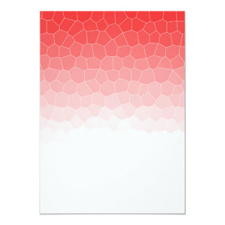 Red white stained glass 5x7 paper invitation card