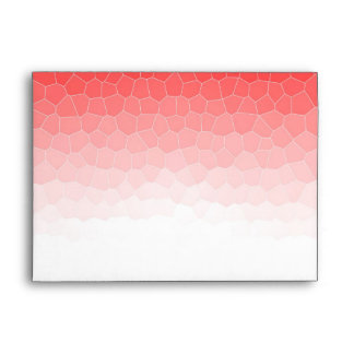 Red white stained glass envelope