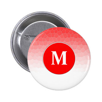 Red white stained glass pinback button