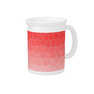 Red white stained glass pitchers