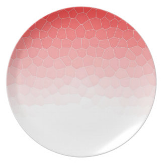 Red white stained glass plates