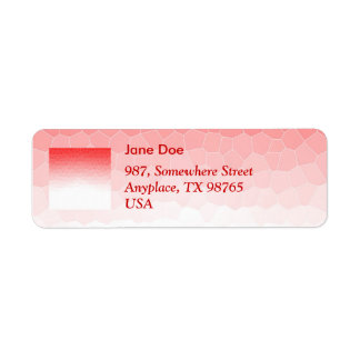 Red white stained glass return address label