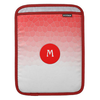 Red white stained glass sleeve for iPads