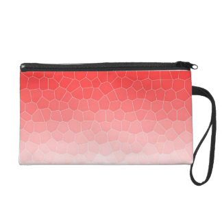 Red white stained glass wristlet