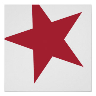 Red & White Star Posters