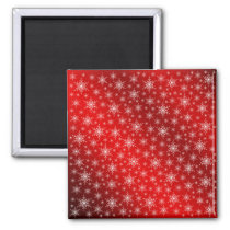 red,white,star, stars, Christmas   Sample, colored Magnet