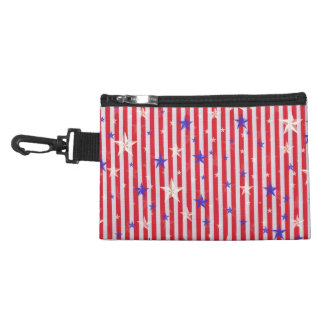 Red white stars stripes pattern accessories bags