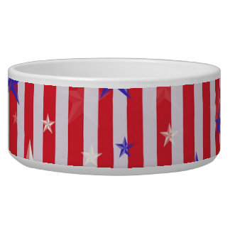 Red white stars stripes pattern bowl