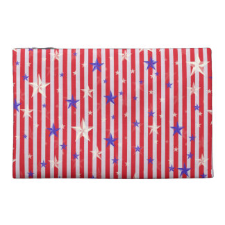 Red white stars stripes pattern travel accessories bags