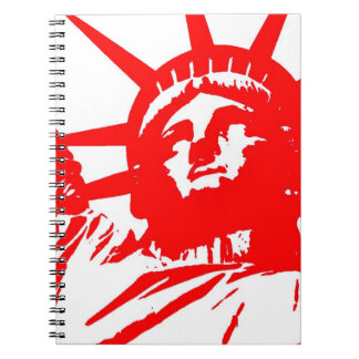 Red White Statue of Liberty Pop Art Notebook
