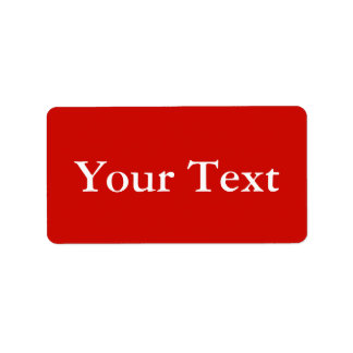 Red & White Stickers or Labels w/ Custom Text