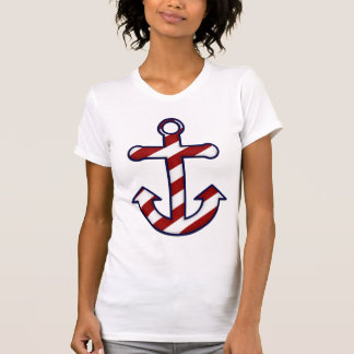 Red & White Striped Anchor T-shirt