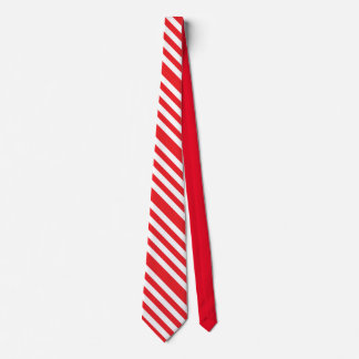 Red/White Striped Christmas Candy Cane Men's Tie