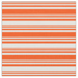 [ Thumbnail: Red & White Striped Pattern Fabric ]