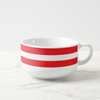 Red & White Striped Soup/Salad Bowl