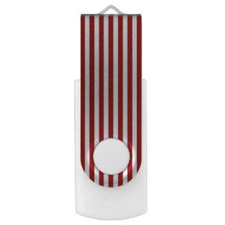 Red White Stripes Design Flash Drive