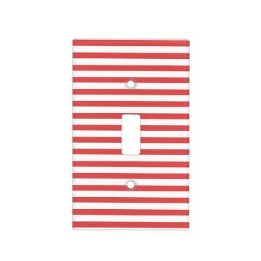 Beach Themed Red & white  stripes - Light switch Cover