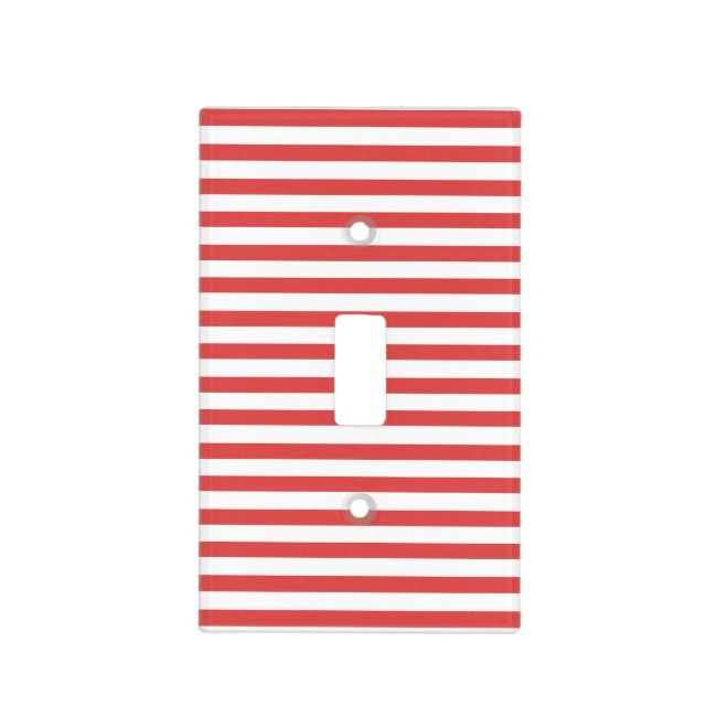 Red & white stripes - Light switch Cover
