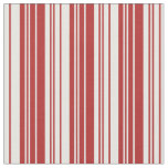 [ Thumbnail: Red & White Stripes/Lines Pattern Fabric ]