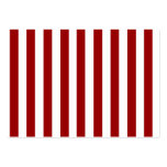Red White Stripes Pattern Large Business Cards (Pack Of 100)