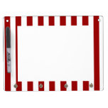 Red White Stripes Pattern Dry-Erase Boards