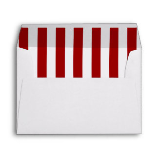 Red White Stripes Pattern Envelope