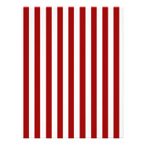 Red White Stripes Pattern Flyer