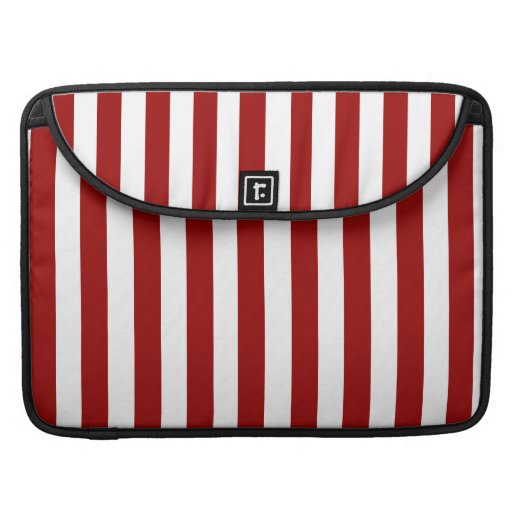 Red White Stripes Pattern MacBook Pro Sleeves