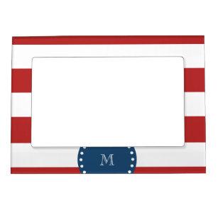 Red Blue White Stripe Picture Frames Zazzle