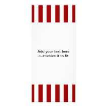 Red White Stripes Pattern Rack Card