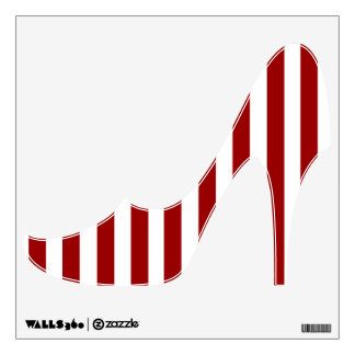 Red White Stripes Pattern Wall Decal