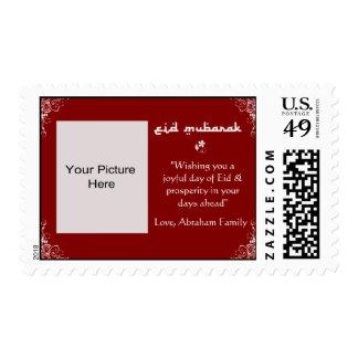 Red-White Swirl Eid Photo Stamps