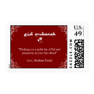 Red White Swirl Eid Stamps