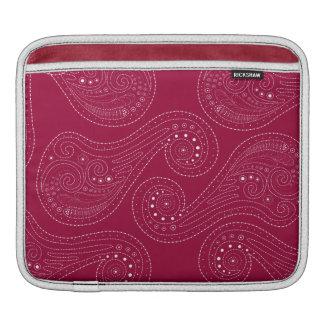 Red & White Swirls Sleeve For iPads