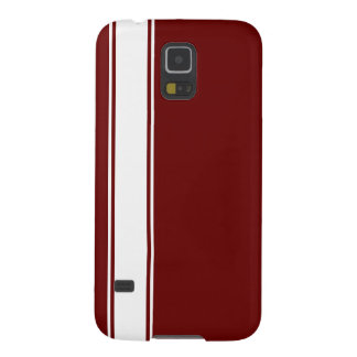 Red & White Team Jersey Stripe Samsung  Case