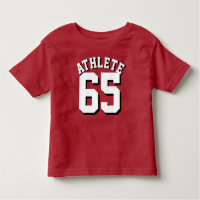 Red & White Toddler | Sports Jersey Design Toddler T-shirt
