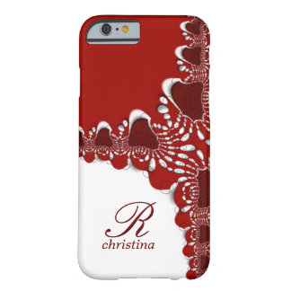 Red White Tribal Lace Fractals Monogram iPhone 6 c iPhone 6 Case
