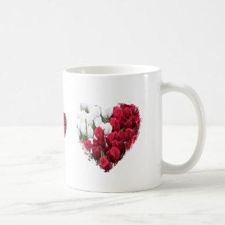 Red & White Tulip Hearts Mug