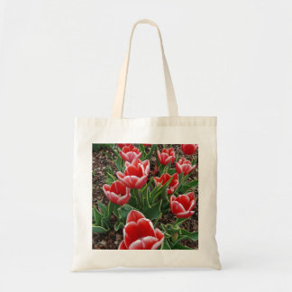 Red & White Tulips Bag